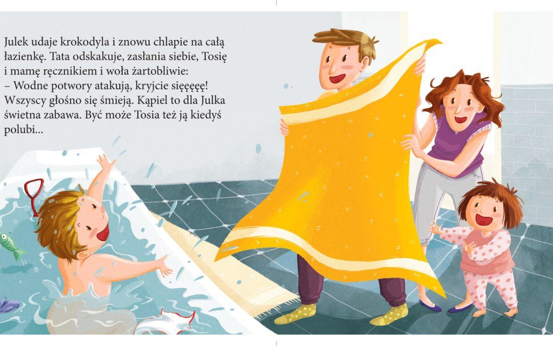 Chlapiesz tak mocno, że oblewasz nas wodą – książeczki dla dzieci w duchu NVC
